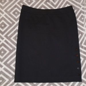 Calvin Klein size 6 black pencil skirt